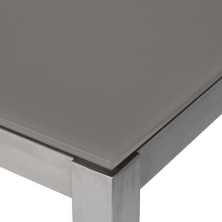 Jati&Kebon Tischplatte 10 mm, Glas satiniert taupe