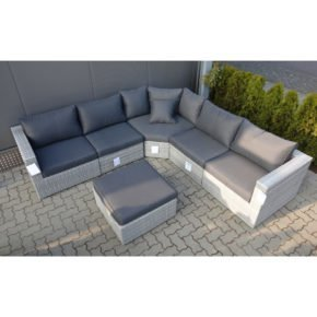 Loungeset Ceres, white grey