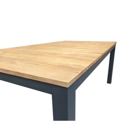 """Home Islands """"Sumatra"""" Gartentisch, Gestell Aluminium charcoal, Tischplatte Teakholz gebürstet, 180x100 cm"""