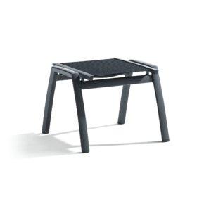 "Sieger ""Catena"" Gartenhocker, Gestell Aluminium eisengrau, Sitzfläche Textilgewebe grau"