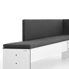 Conmoto Auflagen-Set für Eckbank Riva, anthrazit