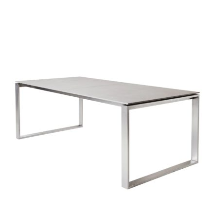 """Ausziehtisch """"Edge"""", Tischplatte Keramik basalt grau, von Cane-line"""