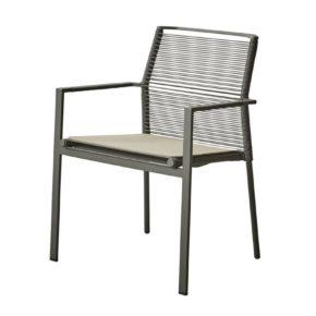 """Gartenstuhl """"Edge"""" von Cane-line mit Sitzkissen taupe"""