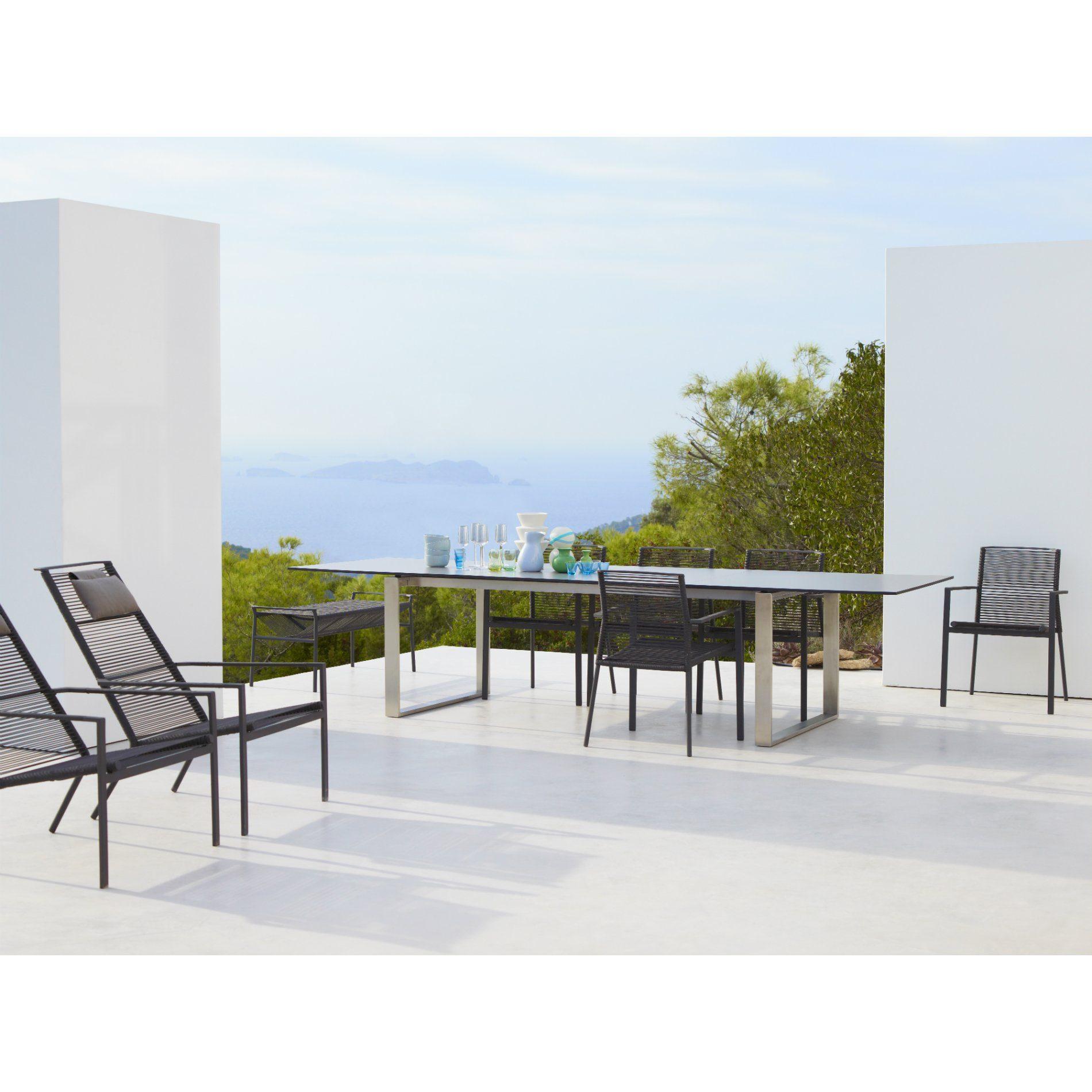 cane line gartentisch edge ausziehtisch. Black Bedroom Furniture Sets. Home Design Ideas