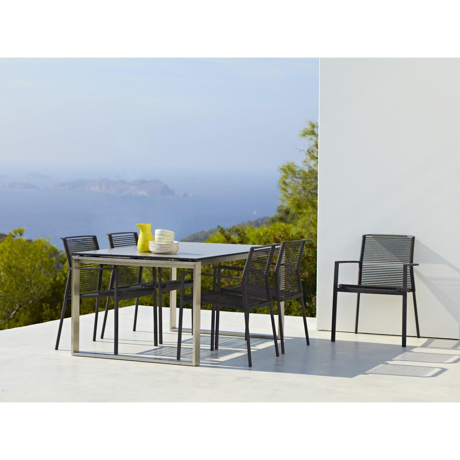cane line gartenstuhl edge stapelstuhl. Black Bedroom Furniture Sets. Home Design Ideas