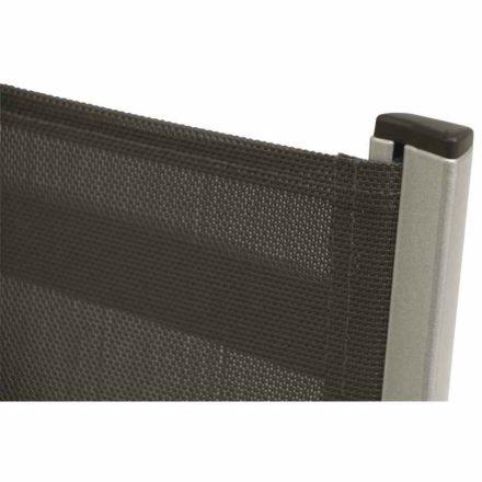 """Hochlehner """"Elements"""" von MWH, Gestell Aluminium silber, Textilgewebe anthrazit"""