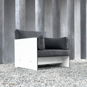 Loungesessel Riva, weiss