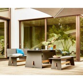 """Conmoto Gartenmöbel-Set """"Tension"""", Gestell sowie Tischplatte und Sitzfläche aus HPL anthrazit"""