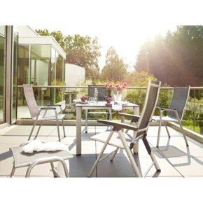 """Kettler Gartenmöbel-Set mit Klapp- und Stapelstühlen """"Cirrus"""" und Tisch """"Edge"""""""