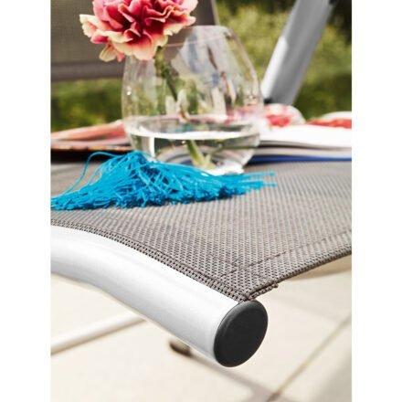 "Kettler ""Cirrus"" Multipositionssessel, Gestell Aluminium silber, Sitzfläche Textilgewebe anthrazit-grau"