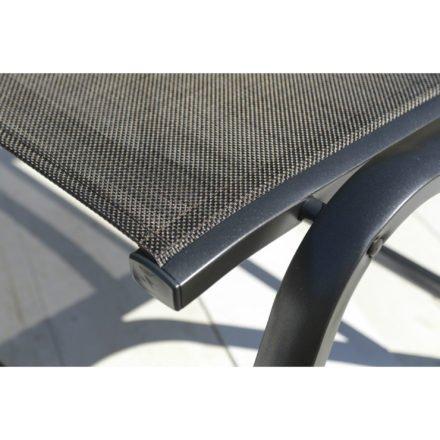 """Kettler Gartenhocker """"Memphis"""", Gestell Aluminium anthrazit, Sitzfläche Textilgewebe bronze"""