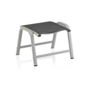 """Kettler Gartenhocker """"Memphis"""", Gestell Aluminium platin, Sitzfläche Textilgewebe graphit"""