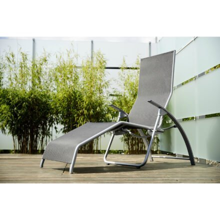 "Kettler ""Tampa"" Sonnenliege/Bäderliege, Gestell Aluminium silber, Bespannung Textilgewebe anthrazit"