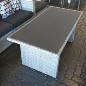 "Loungetisch mit Glasplatte ""Ceres"", white grey"