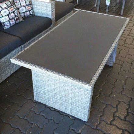 """Loungetisch mit Glasplatte """"Ceres"""", white grey"""