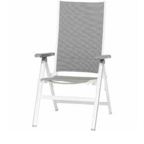 """Hochlehner """"Futosa"""" von MWH, Gestell Aluminium arctic white, Textilgewebe grau"""