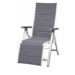 "Relaxsessel ""Futosa"" von MWH, Gestell Aluminium arctic white, Textilgewebe grau"