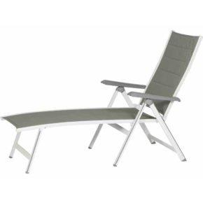 """Sonnenliege """"Futosa"""" von MWH, Gestell Aluminium arctic white, Textilgewebe grau"""