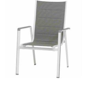 "Stapelsessel ""Futosa"" von MWH, Gestell Aluminium arctic white, Textilgewebe grau"