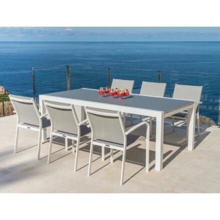"""Jati&Kebon Gartenmöbel-Set mit Stuhl """"Malaga"""" und Gartentisch """"Livorno"""""""