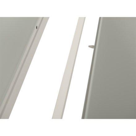 Gartentisch Livorno, Ausziehtisch 220/330x106 cm von Jati&Kebon, Aluminium weiß, Tischplatte Glas