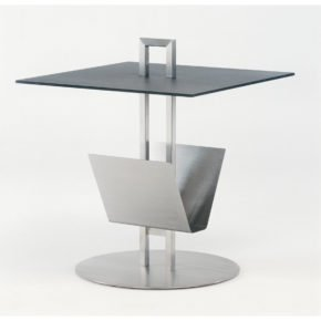 """Beistelltisch """"Helix"""" von Fischer Möbel, Größe: 49,5x49,5 cm, Tischplatte fm-ceramtop anthrazit"""