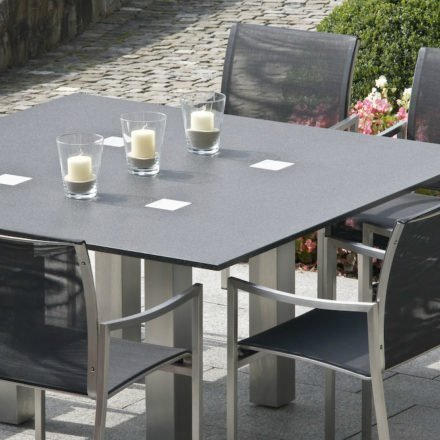 Gartentisch Grigio, Granittisch von Zumsteg