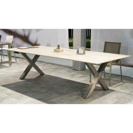 Gartentisch Maximo, Keramiktisch von Zumsteg, Zement hellgrau
