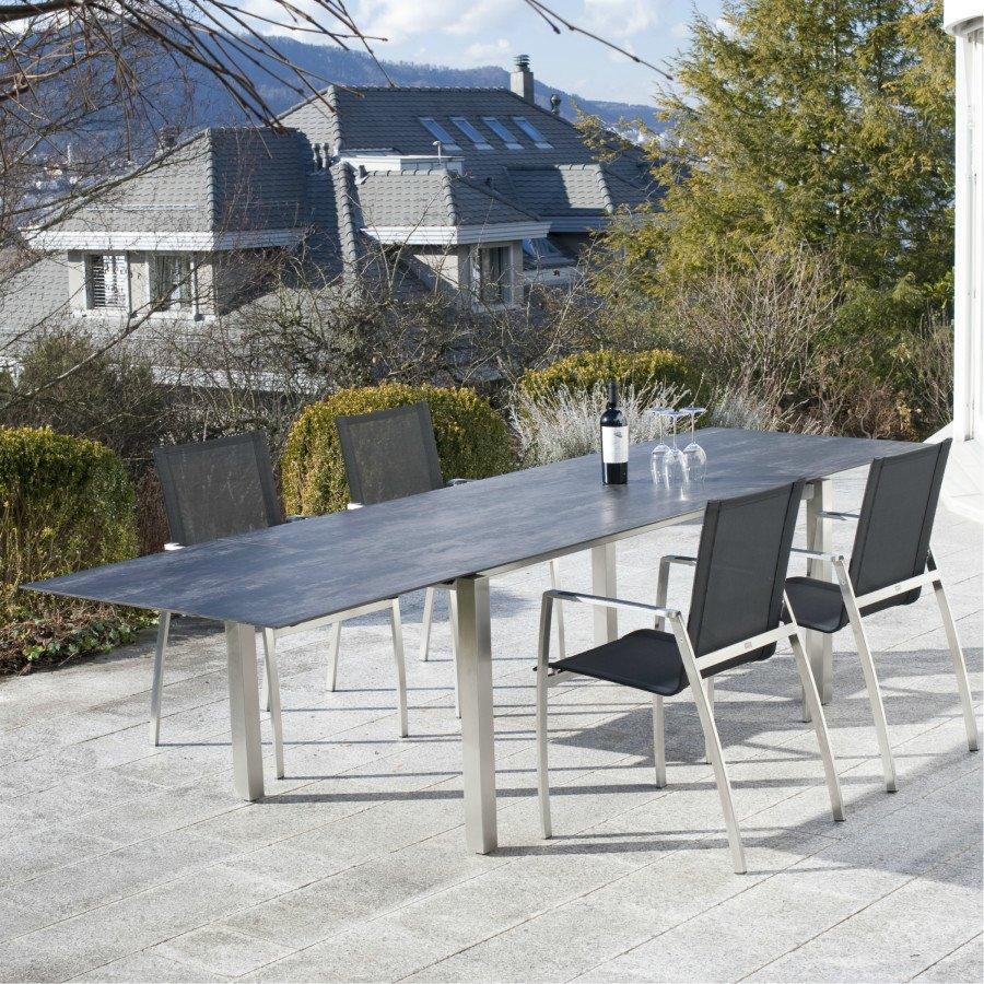 keramiktisch spezia ausziehbar 7 mm plattenst rke. Black Bedroom Furniture Sets. Home Design Ideas