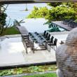 Gartenstuhl Ninix von Royal Botania, Edelstahl pulverbeschichtet und Textilgewebe schwarz