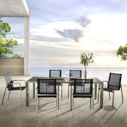 Gartentisch Solano, Keramiktisch von Zumsteg mit Gartenstuhl Terra