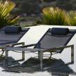 Sonnenliege Ninix 195 von Royal Botania, Textilgewebe schwarz