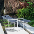Gartenstuhl Ninix 65, Relaxsessel von Royal Botania, Textilgewebe schwarz
