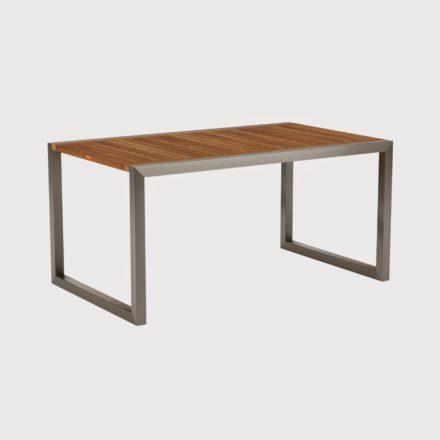 Gartentisch Ninix 150 von Royal Botania, Tischplatte Teakholz und Gestell Edelstahl