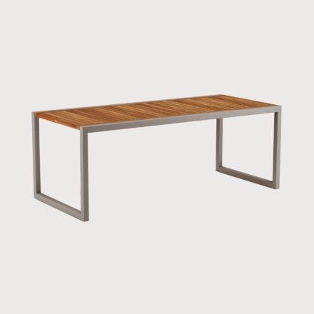Gartentisch Ninix 200 von Royal Botania, Tischplatte Teakholz, Gestell Edelstahl