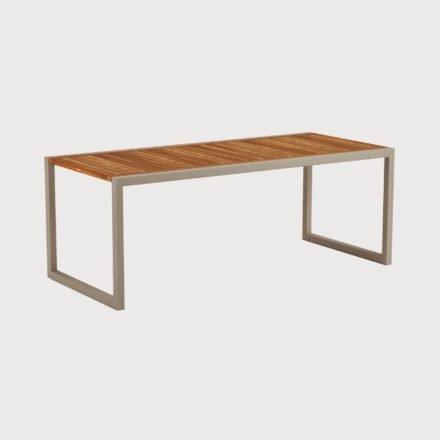 Gartentisch Ninix 200 von Royal Botania, Tischplatte Teakholz, Gestell sand