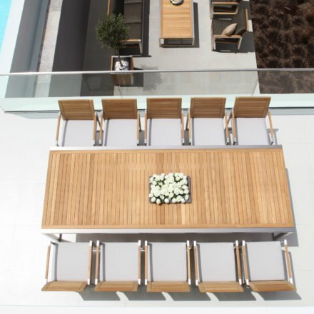 Gartentisch Ninix 300 von Royal Botania mit Tischplatte aus Teakholz