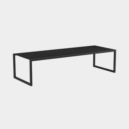 Gartentisch Ninix 300 von Royal Botania, Tischplatte Keramik schwarz, Gestell schwarz
