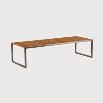 Gartentisch Ninix 300 von Royal Botania, Tischplatte Teakholz, Gestell Edelstahl