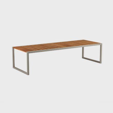 Gartentisch Ninix 300 von Royal Botania, Tischplatte Teakholz, Gestell sand
