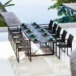Ausziehbarer Gartentisch Ninix 360 von Royal Botania, Tischplatte und Gestell schwarz