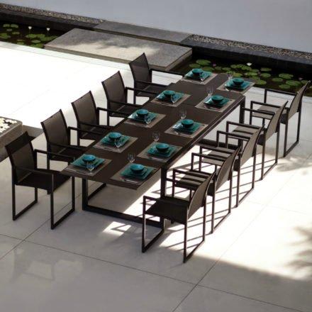 "Royal Botania Gartenmöbel-Set ""Ninix"" mit Ausziehtisch ""Ninix 360"" und Arm Chair ""Ninix"""