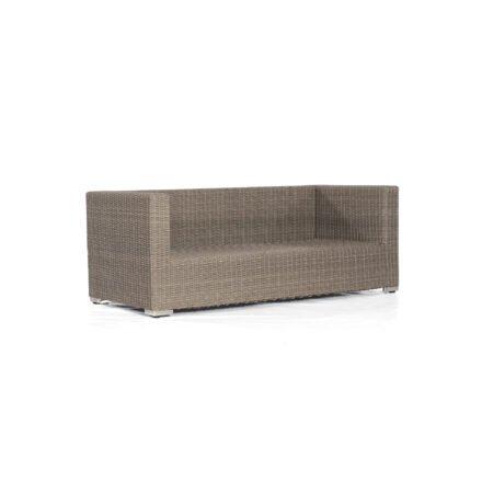 "SonnenPartner 2-Sitzer Loungesofa ""Residence"", Gestell: Aluminium, Polyrattan stone-grey"