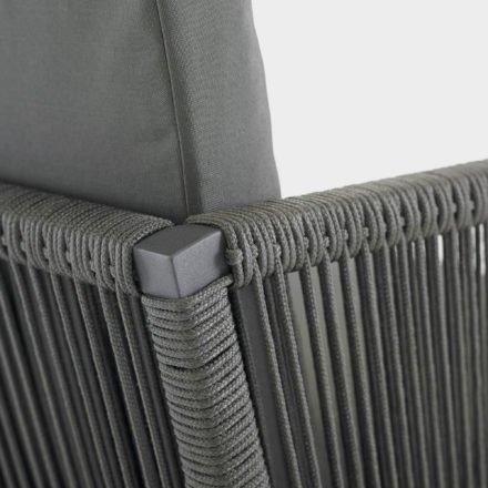 Gartenstuhl Club, Dining-Sessel von Solpuri, Aluminium anthrazit, String-Flex anthrazit, mit Polstern
