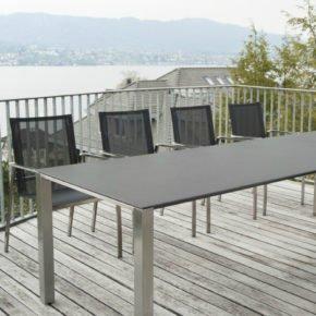 Gartentisch Amanda, ausziehbarer Keramiktisch von Zumsteg
