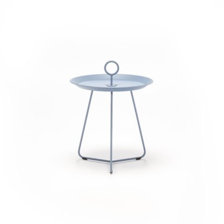 "Tray Table ""Eyelet"" von Houe, Durchmesser 45 cm, taubenblau"
