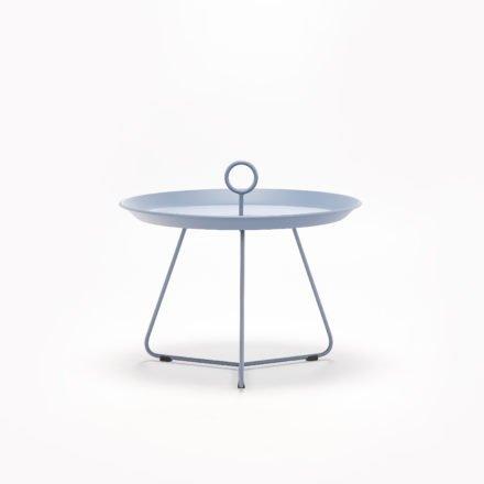 "Tray Table ""Eyelet"" von Houe, Durchmesser 60 cm, taubenblau"