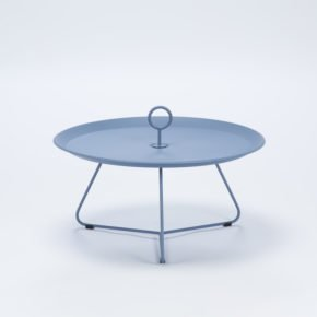 "Tray Table ""Eyelet"" von Houe, Durchmesser 70 cm, taubenblau"