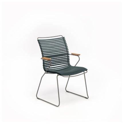 """Houe """"Click"""" Gartenstuhl mit hoher Rückenlehne, Farbe pine green"""