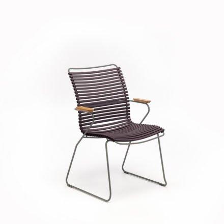 """Stuhl """"Click"""" von Houe, mit Armlehnen und hoher Rückenlehne, Farbe plum"""